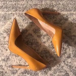 Manolo Blahnik mustard heels